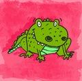 Cartoon Alligator Illustration...
