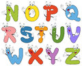 Cartoon Alphabet Characters N-Z Royalty Free Stock Photo
