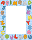 Cartoon Alphabet Photo Frame Royalty Free Stock Photo