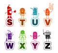 Cartoon alphabet - S to Z Stock Images