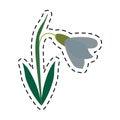 Cartoon amaryllis flower decorative icon