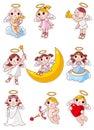 Cartoon angel icon Royalty Free Stock Image