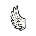 Cartoon angel wing Stock Photo