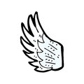 Cartoon angel wing Stock Photos