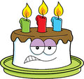 Cartoon angry cake Stock Images