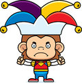 Cartoon angry jester monkey a looking Royalty Free Stock Photo
