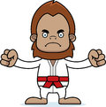 Cartoon angry karate sasquatch a looking Stock Photography