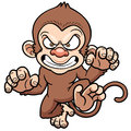 Cartoon angry monkey vector illustration of Stock Image