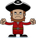 Cartoon angry pirate sasquatch a looking Stock Photography