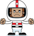 Cartoon angry race car driver sasquatch a looking Royalty Free Stock Photos