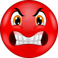 Cartoon Angry smiley emoticon Royalty Free Stock Photo