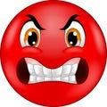 Cartoon Angry smiley emoticon Royalty Free Stock Photo