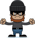 Cartoon angry thief sasquatch a looking Stock Photo