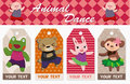 Cartoon animal card Stock Image