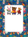 Cartoon animal card Royalty Free Stock Photos