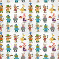 Cartoon animal chef seamless pattern Royalty Free Stock Photos