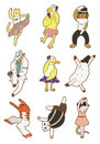 Cartoon animal dance icon Stock Image