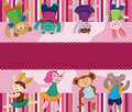 Cartoon animal dancer seamless pattern Royalty Free Stock Image