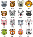 Cartoon Animal Faces Set [2] Royalty Free Stock Photo