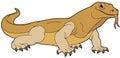 Cartoon Animal - Goanna - Illu...