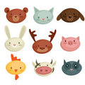 Cartoon animal head Royalty Free Stock Images