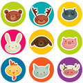 Cartoon Animal Head Stickers