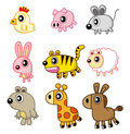 Cartoon animal icon Stock Images