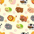 Cartoon animal seamless pattern Stock Image