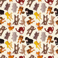Cartoon animal seamless pattern Royalty Free Stock Image