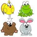 Cartoon animal set. mammal Royalty Free Stock Photo