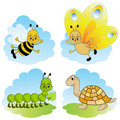 Cartoon animals. Stock Photo