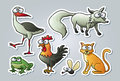 Cartoon animals Royalty Free Stock Photos