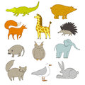 Cartoon animals. Royalty Free Stock Photo