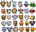 Cartoon animals illustration picture for your desing Royalty Free Stock Photography