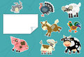 Cartoon animals label illustration for the children beautiful and colorful of Royalty Free Stock Photos
