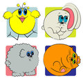 Cartoon animals set. animals zoo Royalty Free Stock Photos