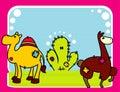 Cartoon animals vector Royalty Free Stock Photo