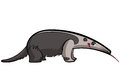 Cartoon anteater animal eating sticking out its tongue Stock Images