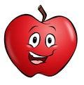 Cartoon Apple Royalty Free Stock Photo