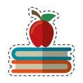 Cartoon apple book school symbol