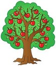 Cartoon apple tree Royalty Free Stock Photos