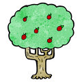 Cartoon apple tree Royalty Free Stock Photography