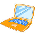 Cartoon Appliences Laptop Royalty Free Stock Photo