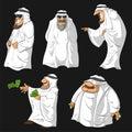 Cartoon Arab Sheikhs