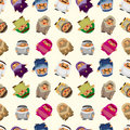 Cartoon Arabian people seamless pattern Royalty Free Stock Images