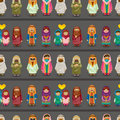 Cartoon Arabian people seamless pattern Royalty Free Stock Image