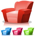 Cartoon Armchair Set Stock Image