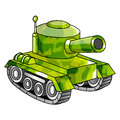 Cartoon army tank military vector illustration Stock Photos