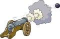 Cartoon artillery cannon Royalty Free Stock Photo