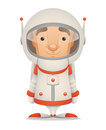 Cartoon Astronaut Stock Image